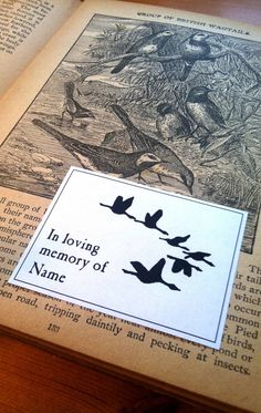 Beautiful Bereavement Gifts, 50 Migration Birds Bookplates, In Memory of Exlibris Funeral Gifts, Pie Bird, Bird Migration, Bereavement Gift, Literary Gifts, Gifts For Readers, Sympathy Gifts, Memorial Gifts, In Loving Memory