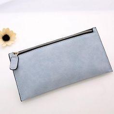 2016 lowest price Fashion Women Leather Zipper Wallet Clutch Card Holder Purse Lady Long Handbag gift wholesale carteira