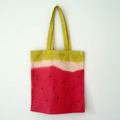 Absolutely perfect --------- Watermelon tote bag Hand painted shopping bag Tutti Frutti