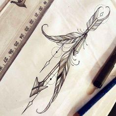 Super Tattoo Feather Arrow Middle Ideas - Super Tattoo Feather Arrow Middle Ideas ร . - Super Tattoo Feather Arrow Center Ideas – Super Tattoo Feather Arrow Center Ideas ร ค tatoua - Neue Tattoos, Body Art Tattoos, Tattoo Drawings, Tattoo Hip, Thigh Tattoos, Wrist Tattoo, Trendy Tattoos, Cool Tattoos, Tatoos