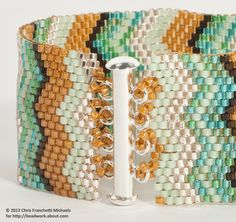 Attach a Slide Clasp to a Peyote Stitch Cuff Bracelet