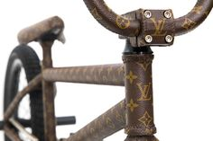 #LouisVuitton Wrapped BMX Bike from Nigel Sylvester   Check it →  http://bmxunion.com/daily/nigel-sylvester-218-capucine-louis-vuitton-wrapped-bike-check/   #BMX #bike #bicycle #fashion #design #style #purse #expensive