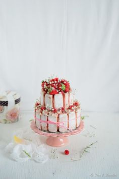 strawberry, rhubarb and rosewater charlotte