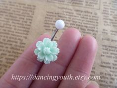 Beatiful+Flower+Belly+Button+Ring++Belly+Ring+by+DancingYouth,+$4.99