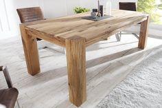 WILD OAK tömör tölgyfa étkezőasztal - 160cm - natúr