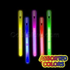 Glow in the dark whistles!
