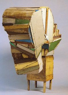 Furniture and wood shavings: Jean Pierre Pincemin Art Sculpture, Modern Sculpture, Abstract Sculpture, Abstract Art, Art Carton, Modern Art, Contemporary Art, Bokashi, Creation Art
