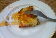 Retete Culinare - Budinca de dovlecel, cartofi si bacon