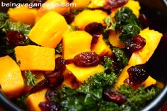 Oven Roasted Squash with Kale and Cranberries: This colorful, simple and absolutely delicious side dish will surely brighten up your holiday dinner table. The flavors really compliment each other from the creamy Butternut Squash to the sweet cranberries and the rich savory kale. This is a traditional holiday dish for our family and we hope it finds it's way to your family's table too.