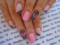 If you are looking for cute, simple nail designs, look no further. If you enjoy striped nails, then you are […] Colorful Nail Designs, Simple Nail Designs, Acrylic Nail Designs, Nail Art Designs, Nails Design, Bling Nails, Red Nails, Bow Nail Art, Gel Nails French