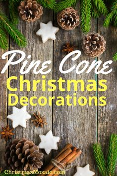 Pine Cone Christmas Projects Welcome To Christmas, Christmas Tree, Christmas Ornaments, Christmas Mosaics, Christmas Projects, Beautiful Christmas, Yule, Pine Cones, Make Your Own