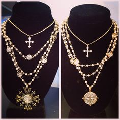 Love, love, LOVE these necklaces!   Now at Freshair Boutique!  #freshairsalon #freshairboutique #accessories #necklace #newarrivals #tistheseason #shoplocal #fayetteville #boutique