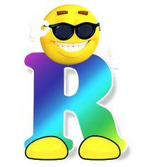 Letter R Alphabet Smiley Monogram Face Emoji Shirt for Men Women Kids Art Print by minimalisteez Alphabet Drawing, Abc Alphabet, Alphabet And Numbers, Graffiti Alphabet, Free Emoji Printables, Emoticon Faces, Smiley Faces, Das Abc, Emoji Love