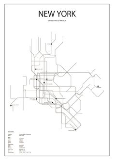 Print with a New York metro station.