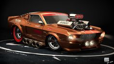 Muscle Car Cartoon Drawings | Design: Artwork by Tamás Tóthfalussy « Muscle Cars