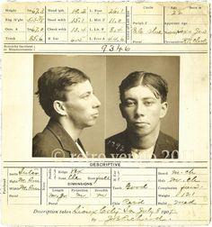 Criminal Mug Shot Circa 1907 - $40 fr Retro Vertigo