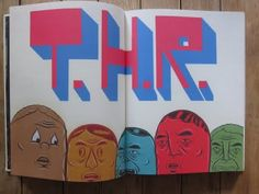 """Barry McGee. """"THR."""" Published by Alleged Press."""