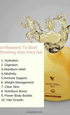 Aloe vera has many healing properties like weight loss , fight acne, etc and the easiest way to experience its nutritional benefits is to drink the aloe Vera gel. Learn more here on why you should include Aloe vera Gel in your daily nutrition. Related to: Healthy lifestyle, Aloe vera gel, Forever living products, weight loss, skin care.