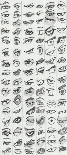 Learn to draw eyes - reference pictures - # learning - . - Learn to draw eyes – reference pictures – – drawings of people Eye Drawing Tutorials, Drawing Techniques, Drawing Tips, Drawing Base, Drawing Ideas, Drawing Drawing, Anime Eyes Drawing, Figure Drawing, Eyeball Drawing