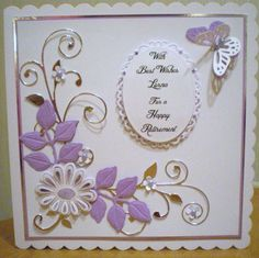Tonic dies Tonic Cards, Die Cut Cards, Crafters Companion, Handmade Birthday Cards, Folded Cards, Hobbies And Crafts, Homemade Cards, Wedding Cards, Bugs