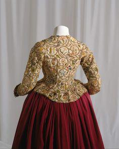 Jacket Date: ca. 1616 Culture: British Medium: linen, silk, metal