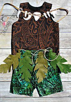 Muai Toddler Costume Maui Child Costume Moana Maui Outfit