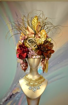 Hey, I found this really awesome Etsy listing at https://www.etsy.com/au/listing/265768153/halloween-gold-headpiece-masquerade