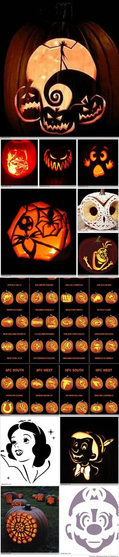 Pumpkin carvings are fun. Check the gallery for more such pumpkin carving ideas for Halloween. Fete Halloween, Holidays Halloween, Halloween Treats, Halloween Pumpkins, Happy Halloween, Halloween Decorations, Halloween Stuff, Courge Halloween, Pumpkin Carving Patterns