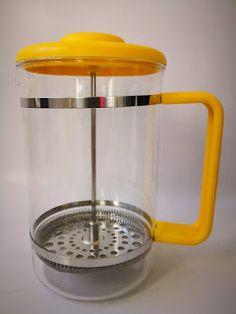 Bodum Bistro 12 cup French Press in Yellow Best Coffee Maker, French Press Coffee Maker, Stainless Steel Mesh, Chrome, Retro, Cape Town, Glass, Columbia, Skyscraper