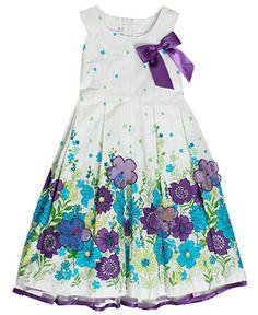 Bonnie Jean Kids Dress, Little Girls White Poplin Dress - Kids - Macy's