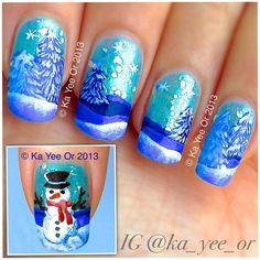 winter by ka_yee_or  #nail #nails #nailart