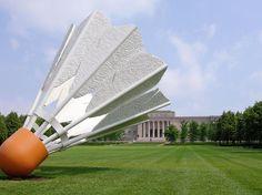 The Nelson-Atkins Museum of Art Kansas City, Missouri athletic game badminton Sport sky grass structure sport venue lawn stadium