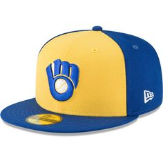 de94fa749df4f Men s Milwaukee Brewers New Era Yellow Cooperstown Collection Wool 59FIFTY  Fitted Hat