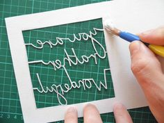 papercutting tricky letters gluing 1