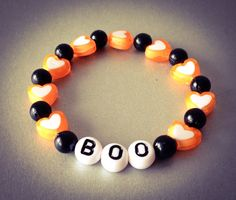 Halloween Bracelet, Boo, Halloween Party Favors for Babies, Kids, Children Jewelry by NadiaBo on Etsy, $5.00