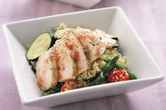 This hearty chicken salad incorporates a satisfying combination of colours and textures.
