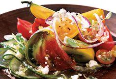 Heirloom Tomato and Fresh Oregano Greek Salad