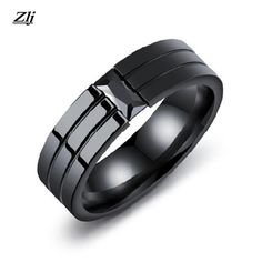 7-11 New Fashion Roman Black Finger Ring Stainless Steel Cool Male Ring Tungsten Cocktail Wedding Jewelry For Man Boy Promise