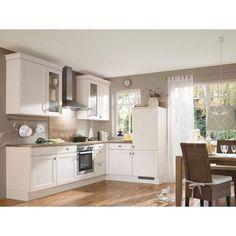 Eckküche in Cremefarben von CELINA: helle Farben und hohe Funktionalität