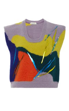 Sleeveless Embroidered Sweater by DELPOZO for Preorder on Moda Operandi
