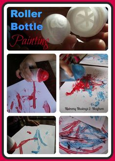Recycle those deodorant bottles and turn them into a fun fine motor activity for toddlers!