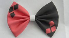 Harley Quinn Inspired Classic Hair Bow by PigtailsnCurls on Etsy