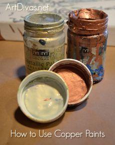 tips and tricks to painting with copper paint by Tamara Kapan @tamarakapan #artdivas_