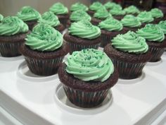 https://flic.kr/p/4zdX7x | St Patrick's Day cupcakes | Chocolate Stout cupcakes with Bailey's Irish Cream frosting