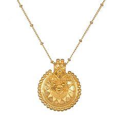 Satya Jewelry Gold Mandala Necklace. Measures: 36   $159