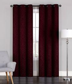Pair of Adelaide Crinkled Window Curtain Panels w/Grommets Burgundy Living Room, Curtains Living Room, Bright Furniture, Curtains, Panel Curtains, Custom Curtains, Burgundy Curtains, Beige Walls, Mauve Living Room