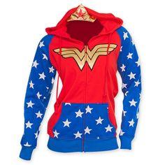 Wonder Woman Women's Costume Hooded Sweatshirt | WearYourBeer.com