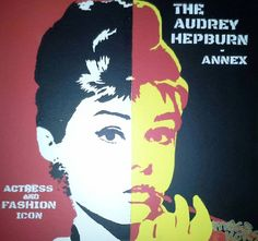 Audrey Hepburn Actress Stencil Graffiti Spray Art PopArt MAKE KOKS