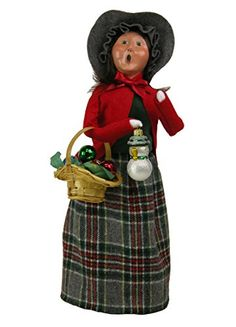 Byers Choice Caroler Woman with Glass Ornaments
