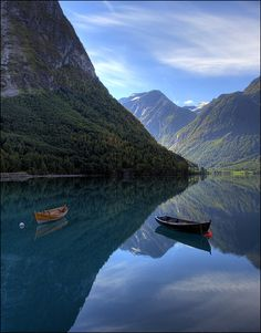 Norway - The Fjords are beautiful - I was lucky enough to see this once - I need to make a return trip